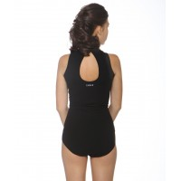 Teardrop-back halter-neck fancy dance leotard