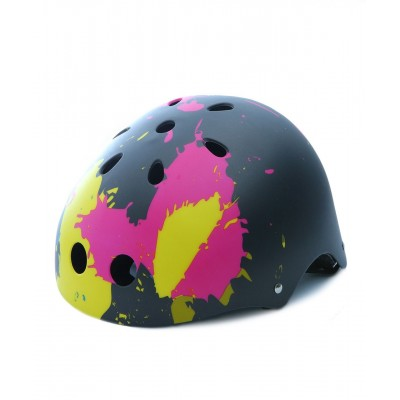 ABS Helmet - grafitti splash over dark grey