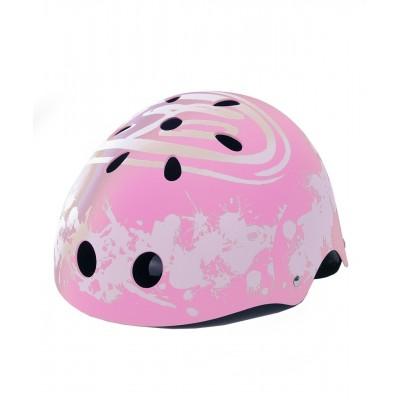 ABS滑冰用头盔 - 活力四射样式 - 粉红色