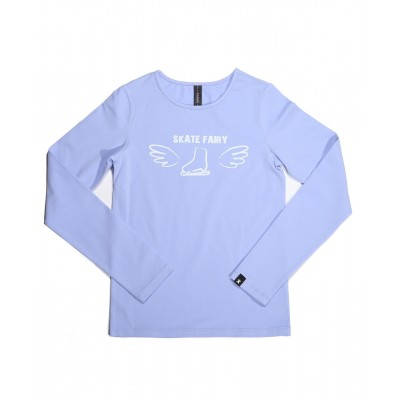 Skate fairy 冰鞋T恤 图案 C - 浅紫