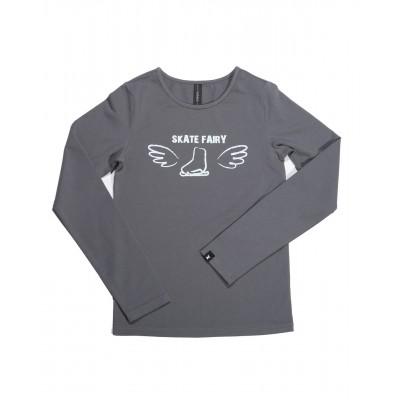 Skate fairy 冰鞋T恤 图案 C - 浅灰色