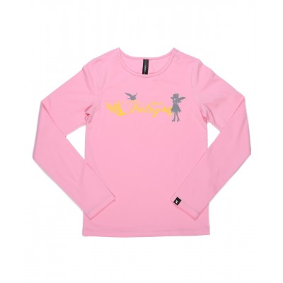 Skate fairy 梦幻长袖T恤 图案 D - 粉红色