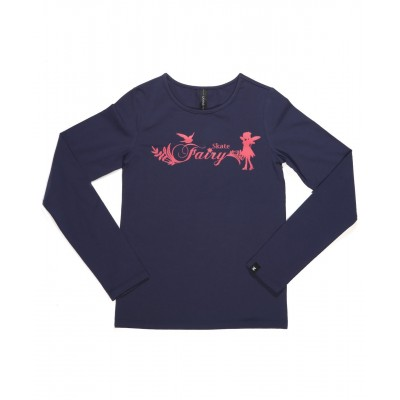Skate fairy magical long sleeve daily skating tee - Pattern D - Royal Blue