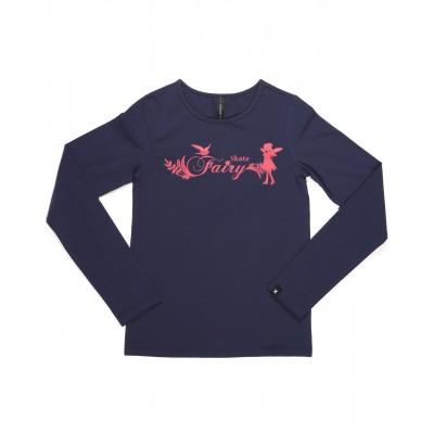 Skate fairy 梦幻长袖T恤 图案 D - 宝蓝