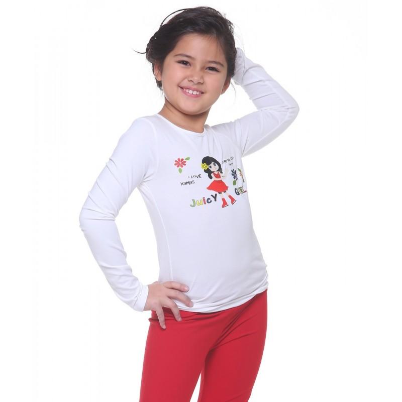 Juicy girl 长袖T恤 图案 B