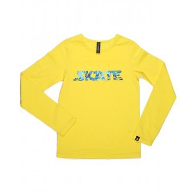 SKATE 花式T恤 图案 F - 黄色