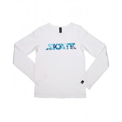 SKATE 花式T恤 图案 F - 白色