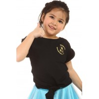 T-shirt - figure skating - black - short-sleeves 1