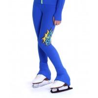 花样滑冰训练裤- 包鞋 - 活力SKATER图案