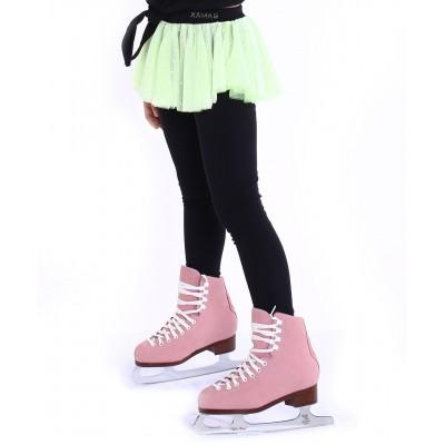 Premium Pro Skating Pants with Polka Dot Skirt - Yellow