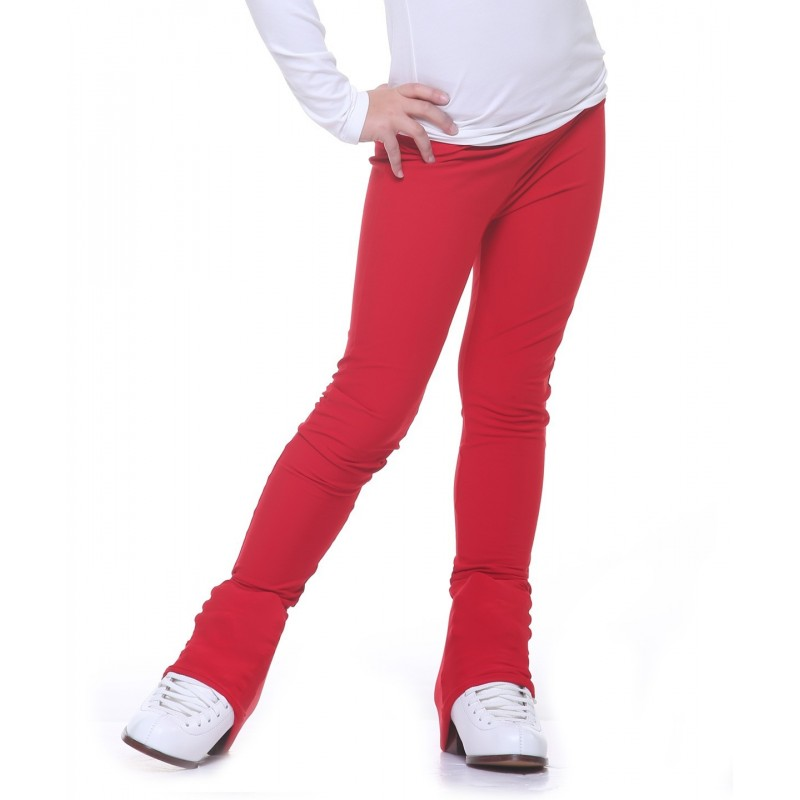 Heel cover skating pants with 4-way stretch brushed back nylon spandex