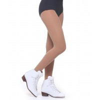 Footed normal tights tanned colour