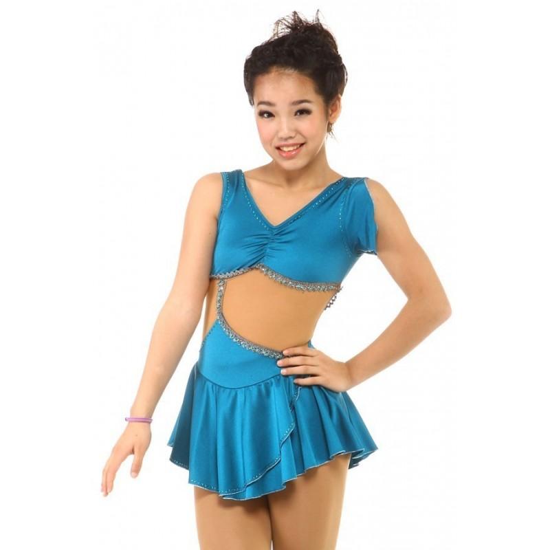 青春时尚 Gia 花样滑冰表演服比赛裙