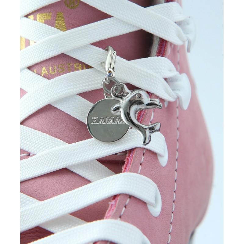 海豚吊坠 - 一双滑冰鞋鞋带