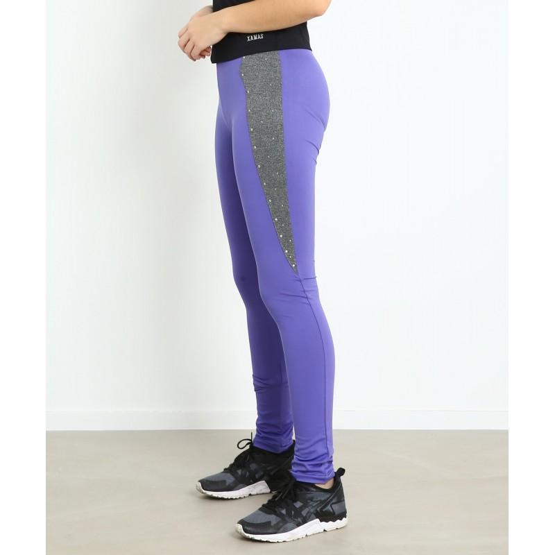 Sports pants - dark purple