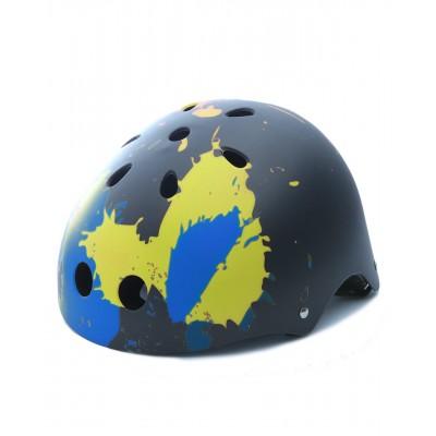 ABS滑冰用头盔 - 活力色彩样式 - 黑色