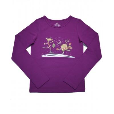 Daily Skating Tee, Pattern C, Long Sleeves - Purple