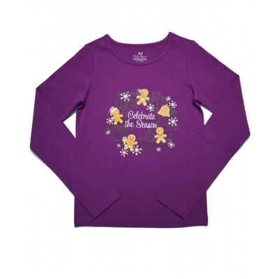 Daily Skating Tee, Pattern D, Long Sleeves - Purple