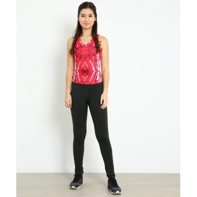 Harmony micro-fleece skating pants with mandala rhinestone pattern