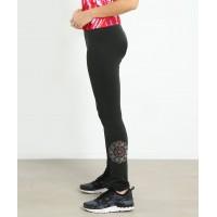 花样滑冰训练裤 - 包鞋 - 超细抓毛绒 - 曼陀罗图案水钻