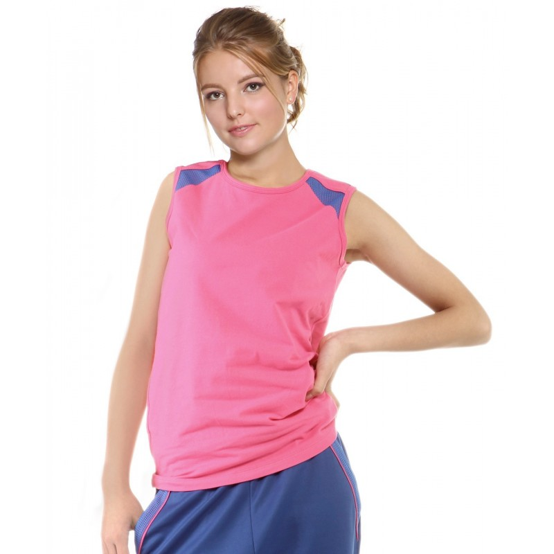 Sports tank top - pink - blue - sleeveless