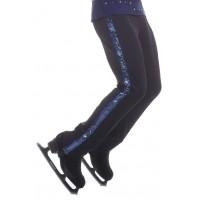 花样滑冰裤,黑色,蓝色,长,亮片