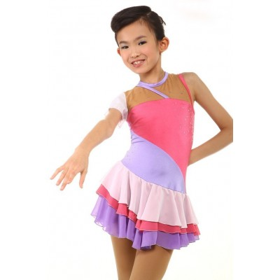 花样滑冰裙 5 - 粉红色
