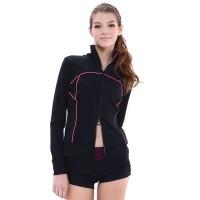 运动外套,黑色,长袖