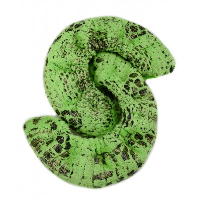 Snake charmer neon green fabric blade cover - figure skating