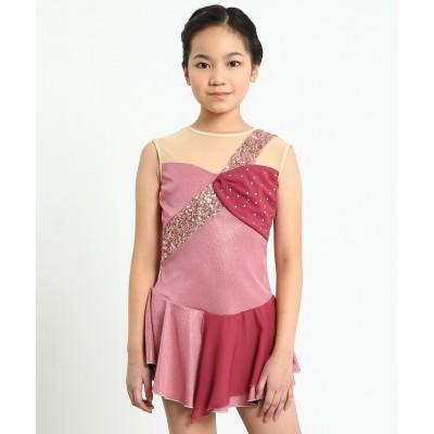 Sophia sleeveless scoop neck sparkling figure skating dress