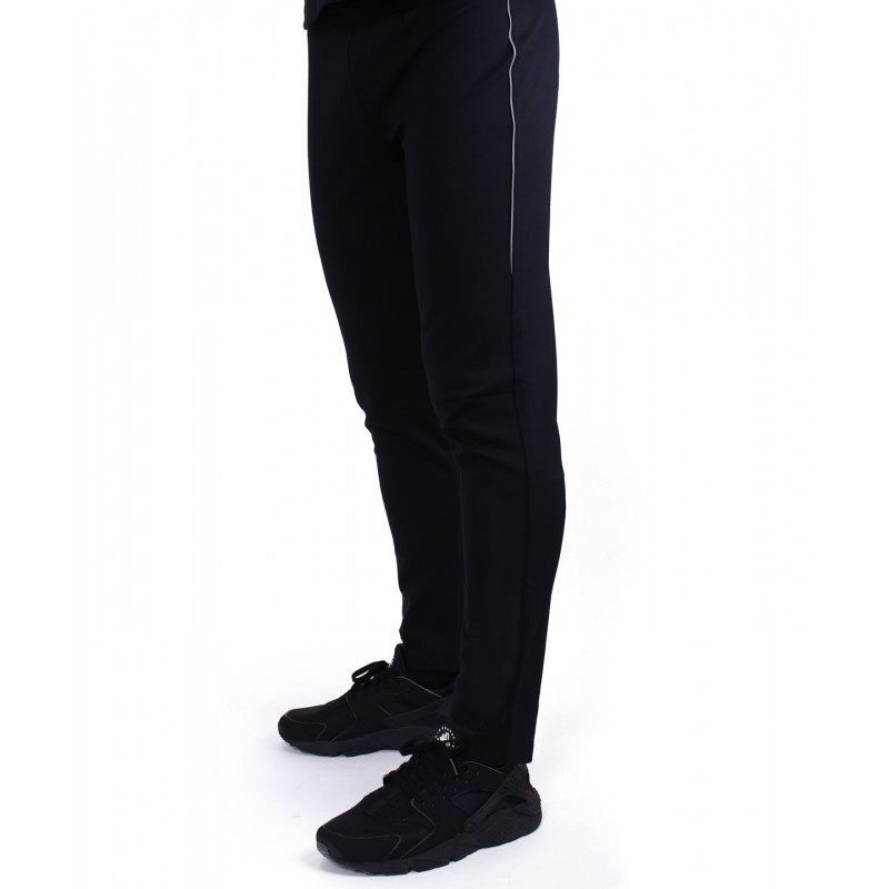 Athletic fit jogger pants with zipper back pocket