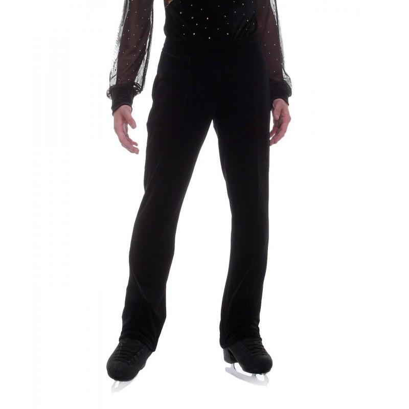 男滑冰员必备高弹丝绒滑冰裤