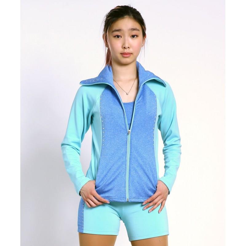 Large collar zip through skater diamond jacket
