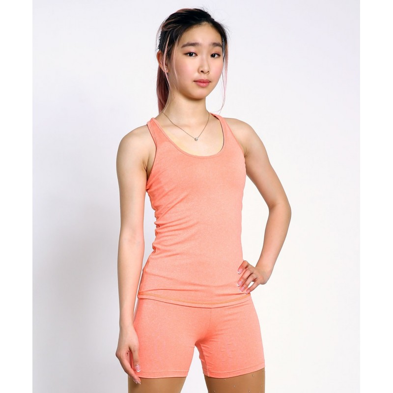 Off-ice training quick-dry skater vest with shelf bra