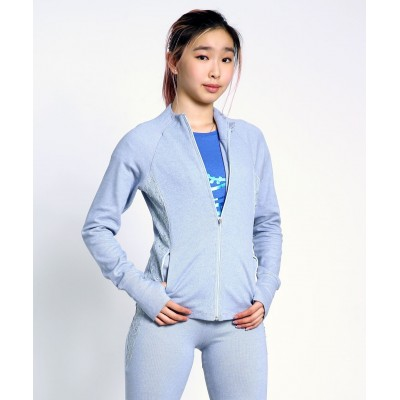 Trendy Pro XAMAS Vintage French Lace Skater Jacket - Baby Blue