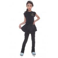 Figure skating skirt leggings - black - layered