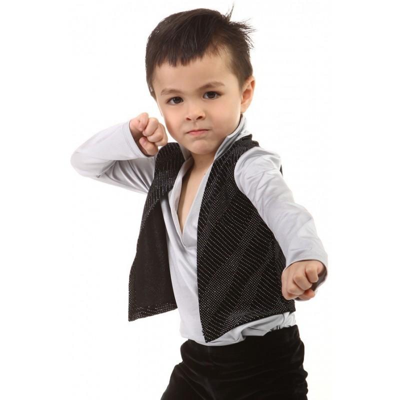 花样滑冰上衣,黑色,长袖,V领,背心