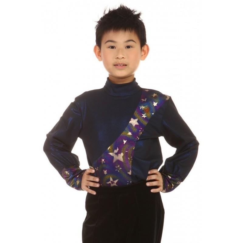 花样溜冰上衣,连身服,黑色,长袖,V领,高领