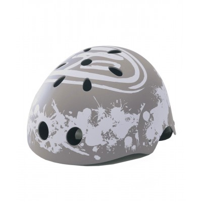 ABS Helmet - energy splash over light grey