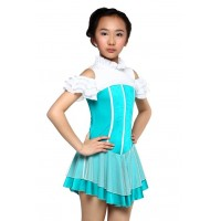 Figure skating dress - short-sleeves - diamante 2