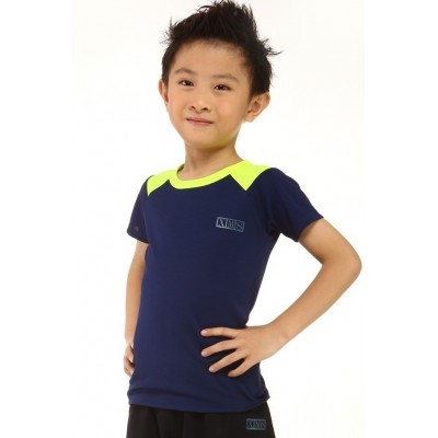 Sports T-shirt - indigo blue - round neck - short sleeves