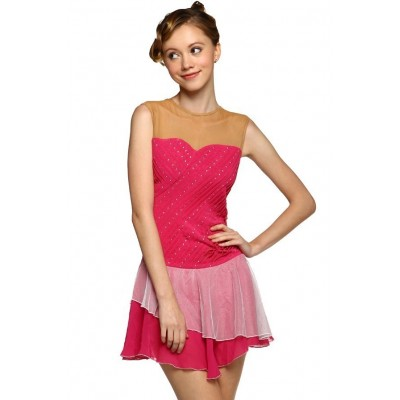Scoop-neck tank dance leotard