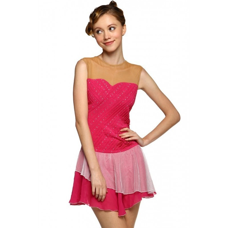 Scoop-neck tank dance leotard - Be-Hot