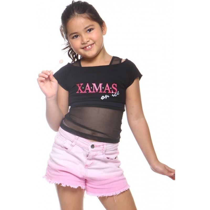 XAMAS tee - cropped top - short sleeves