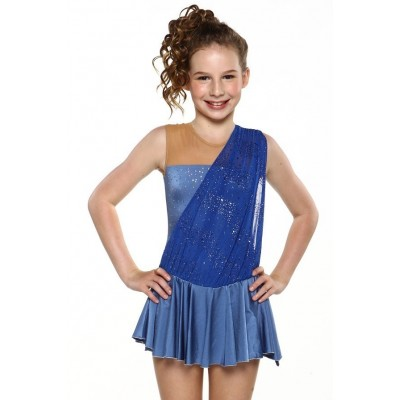 Halter-neck 3-panels tassels dress - figure skating - dance
