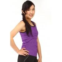运动背心,紫色,黑色饰边