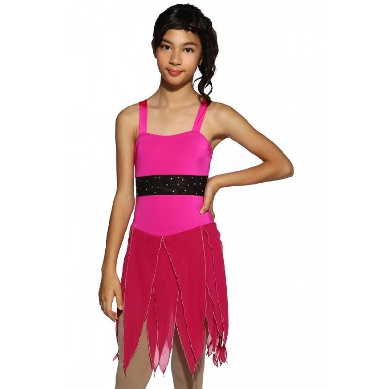 花样滑冰裙,无袖,水钻