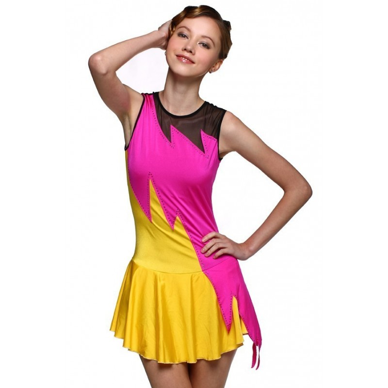 Figure skating dress - sleeveless - diamante 7