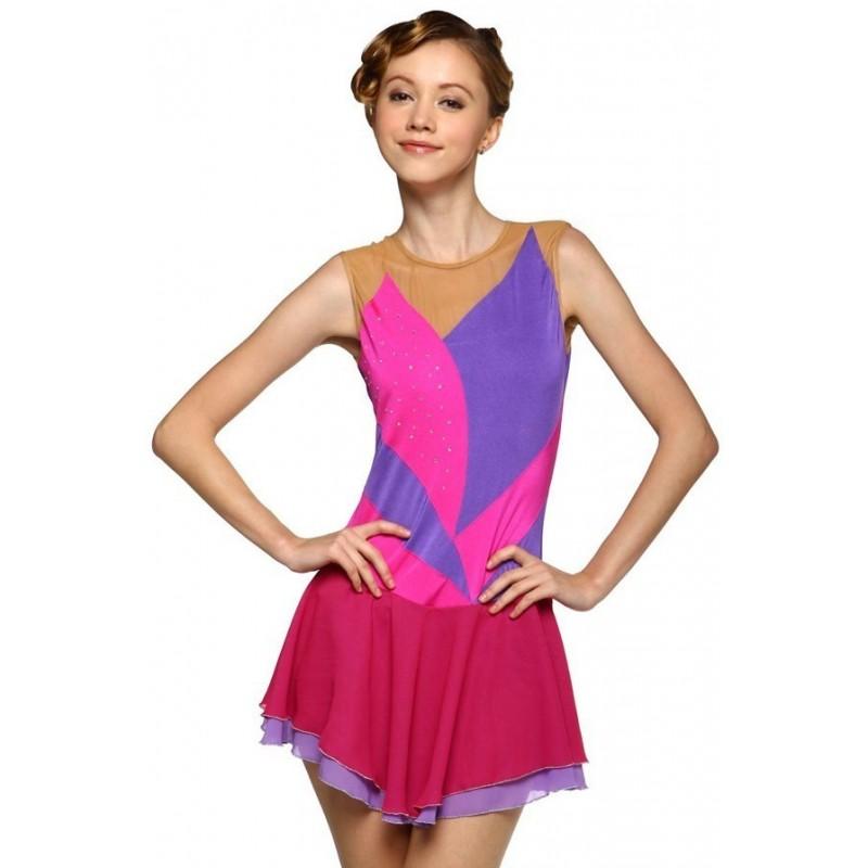 青春时尚 Colombine 花样滑冰表演服比赛裙