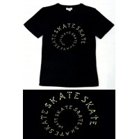 Circle Tee - black - multi-colour diamante